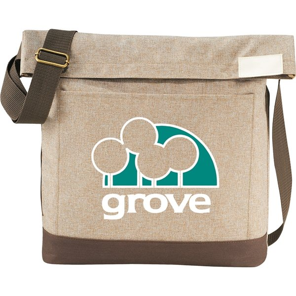 Promotional Chambray Foldover Tablet Tote