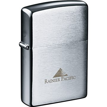 Promotional Zippo(R) Windproof Lighter Brush Chrome