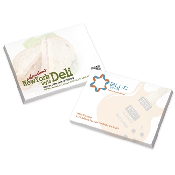Promotional BIC(R) (R)Ecolutions(R) 4 x 3 Adhesive Notepads 50 sheet pad