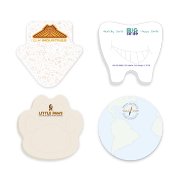 Promotional 3 x 3 Adhesive Die Cut Notepads 50 sheet pad