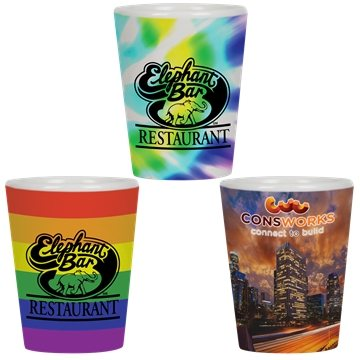 Promotional Full Color 1.5 Oz Collector Cup / ceramic Shot
