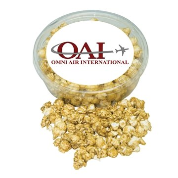 Promotional Designer Plastic Tray with Caramel Popcorn