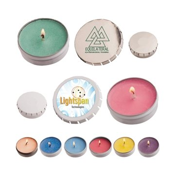 Promotional Snap Top Tin Candle