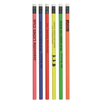 Promotional Fluorescent Neon Thrifty Pencil