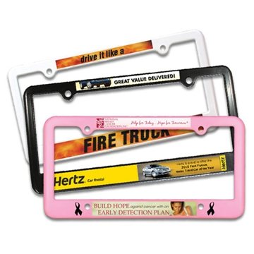 Promotional License Plate Frame - 4Holes, Full Color Digital
