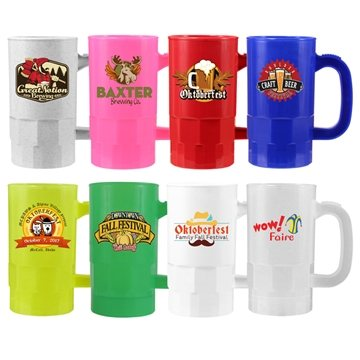 Promotional 14 oz. Beer Stein (2 Side), Full Color Digital