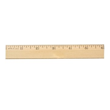 Promotional 6-clear-lacquer-beveled-wood-ruler