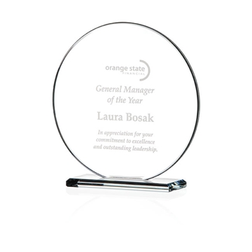 Promotional Round Gem Cut Award - Small