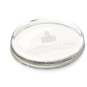 Promotional Jaffa Oval Glass Paperweight