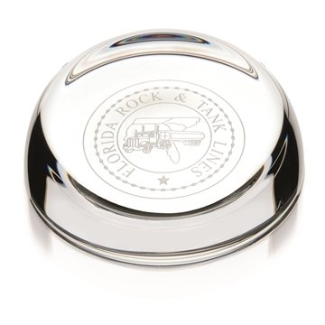 Promotional Clear Slant - Top Paperweight