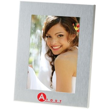 Promotional 4X6 Brushed Metal Photo Frame