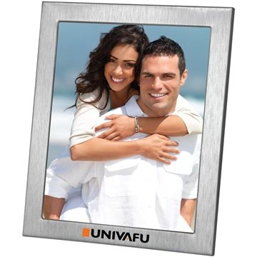 Promotional 8X10 Brushed Metal Photo Frame