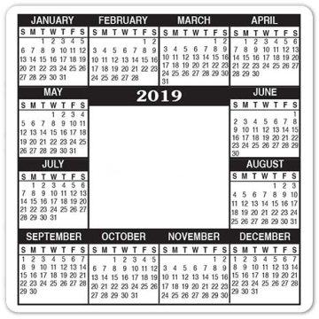 Promotional 5 X 5 Magnetic Calendar