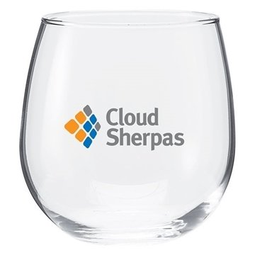 Promotional 16.75 oz Vina Stemless Red Wine - clear