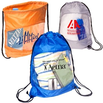 Promotional Clear - View Drawstring Bag