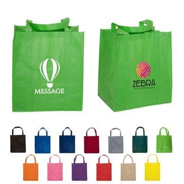 Promotional Non Woven Multi Color Enviro Shopper Bag 13 X 15