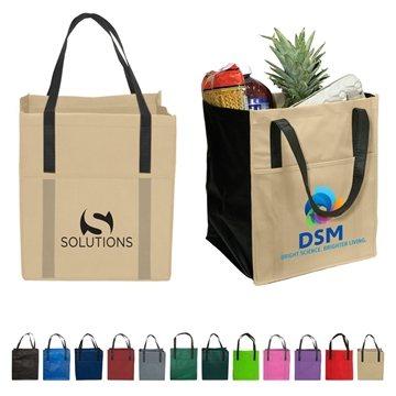 Promotional Non Woven Multi Color Metro Enviro Shopper Bag 13 X 15