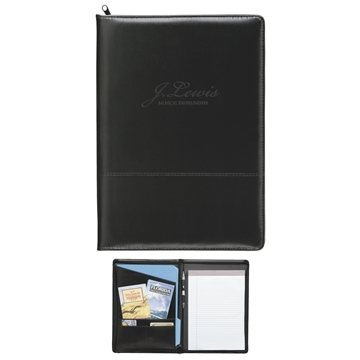 Promotional Script Zippered Padfolio
