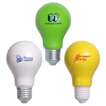 Promotional Custom Light Bulb Stress Ball