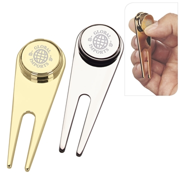 Promotional Magnetic Divot Repair Tool with Ball Marker