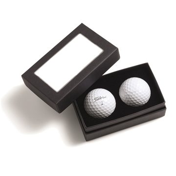Promotional Titleist(R) 2- Ball Business Card Box - Pro V1(R)