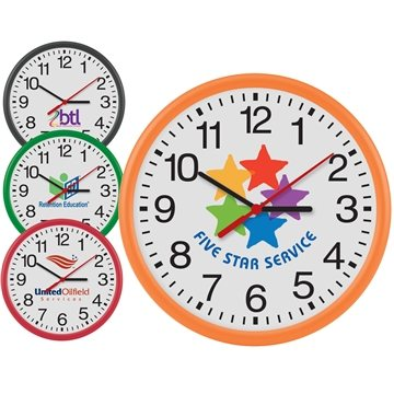 Promotional 12 Round Thin Frame Wall Clock