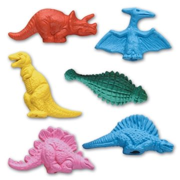 Promotional Pencil Top Stock Eraser - Dinosaur Collection