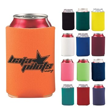 Promotional Collapsible Foam Can Holder - 2 Sided Imprint