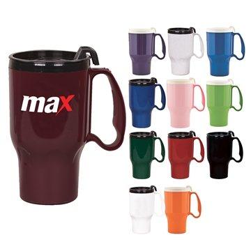 Promotional 16 oz Roadster Holder Friendly Plastic Mug