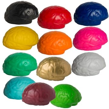 Promotional Brain Shaped Squeezies Stress Relievers
