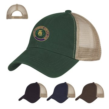 Promotional Washed Cotton Mesh Back Cap