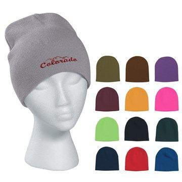 Promotional 100 Acrylic Knit Beanie Cap