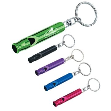 Promotional whistle-key-ring