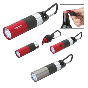 Promotional Aluminum LED Torch With Bottle Opener