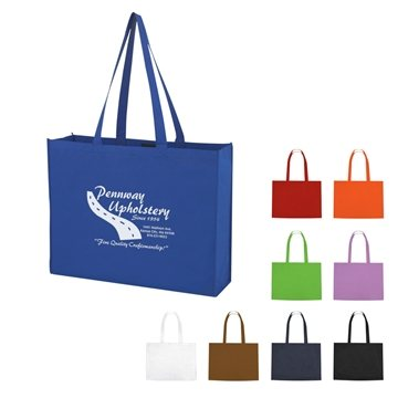 Promotional non-woven-shopper-tote-with-velcro-closure