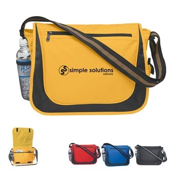 Promotional Messenger Bag With Matching Striped Handle
