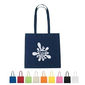 Promotional 100 Cotton Promotional Spot Clean Tote Bag - 15 X 15