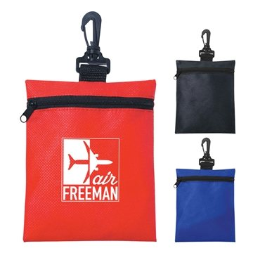 Promotional non-woven-zippered-pouch