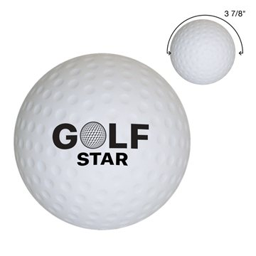 Promotional Golf Ball Shape Stress Reliever