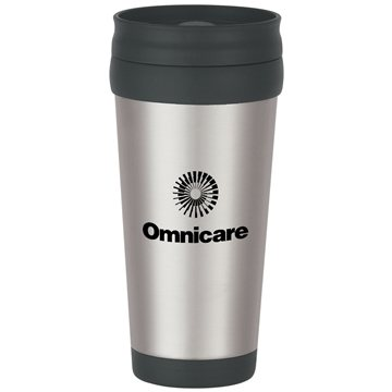 Promotional 16 oz Stainless Steel Tumbler With Slide Action Lid And Plastic Inner Liner