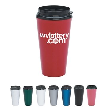 Promotional 16 oz Infinity Tumbler With Plastic Sip Thru Lid
