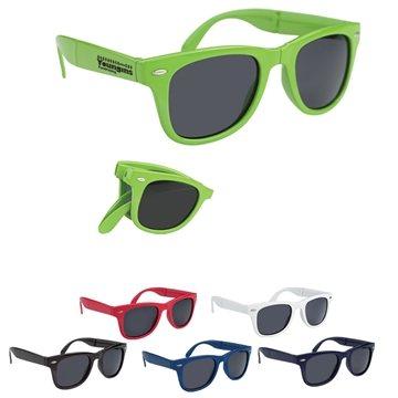 Promotional Polycarbonate UVA UVB Protection Folding Malibu Sunglasses