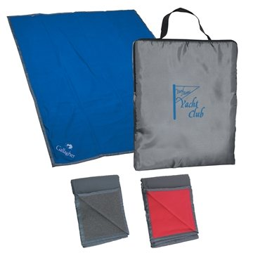 Promotional Reversible Fleece / Nylon Blanket With Carry Case
