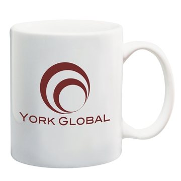 Promotional 11 oz Custom White Ceramic Coffee Mug