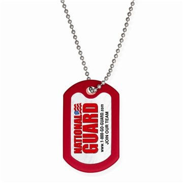 Promotional Dog Tag W / Beaded Necklace