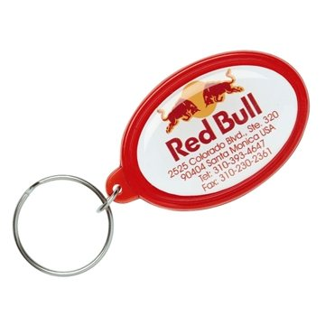 Promotional epoxy-dome-oval-key-tag-keychain