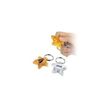 Promotional Star shape, flashlight key ring