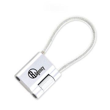 Promotional MoMA Aluminum Cable Keychain