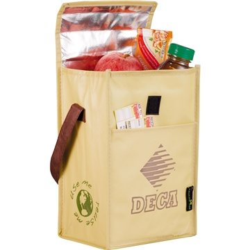 Promotional Laminated Non - Woven Brown Baggin It Lunch Bag