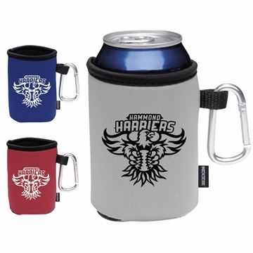 Promotional Collapsible Koozie(R) Can Kooler with Carabiner